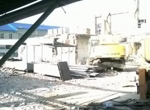 На центральном рынке Ростова разобрали «серпантин»: на его месте построят подземную парковку