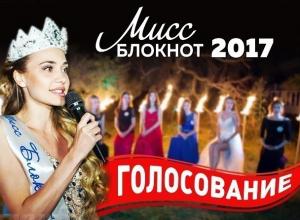 Голосование за участниц «Мисс Блокнот Ростов-2017» по итогам второго творческого конкурса началось