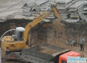 В Ростове на месте строительства здания прокуратуры рабочие обнаружили фрагменты склепа