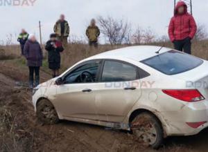 Убегавших от своей жертвы преступников «поглотила» грязевая лужа под Ростовом