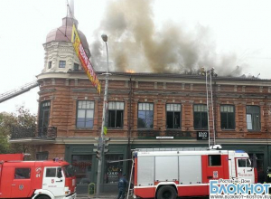 Пожар в ростовском ресторане «Нью-Йорк» произошел из-за замыкания проводки на чердаке. ВИДЕО