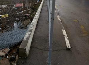 В Ростове появился «разделительный забор» для пешеходов