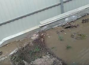 Река из фекалий и нечистот едва не смыла частный дом в Ростове