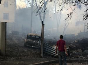 Девять человек пострадали в жутком пожаре в центре Ростова