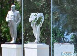 В Ростовской области снесли обезглавленный памятник Ленину