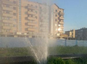 В Ростове на вертолетном поле возник очередной коммунальный фонтан