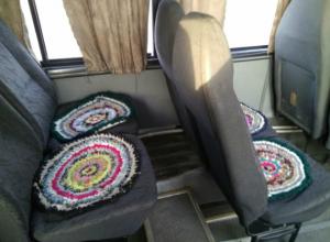 Красивая уютная маршрутка с мягкими ковриками на сиденьях появилась в Ростове