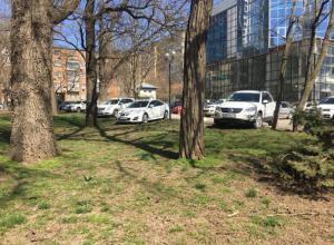 Почувствовавшие себя неуязвимыми автохамы на дорогих иномарках «загадили» все газоны в парке Ростова
