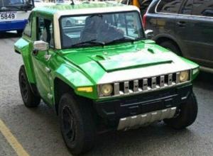 «Ока», переделанная в Hummer, изумила автовладельцев Ростова