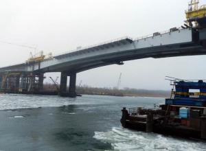 В Ростове завершен подъем центрального пролета нового Ворошиловского моста. Видео