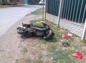В Ростовской области 16-летний скутерист попал в ДТП