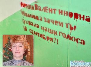 В доме председателя скандально известной УИК из Волгодонска разрисовали стены