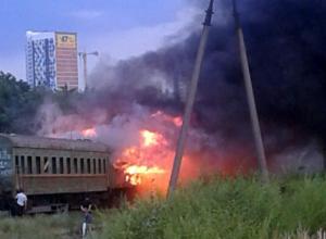 Горящие вагоны на территории ремонтного депо испортили воздух в Ростове