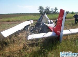 Упавший в Пролетарском районе самолет загорелся во время падения