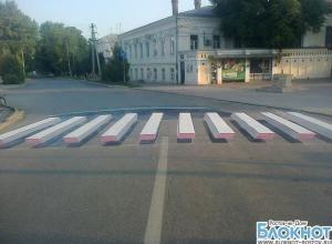 В Таганроге на дорогах появятся 3D-«зебры»