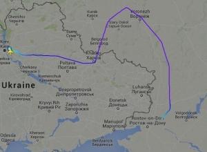 Борт с Надеждой Савченко облетел стороной Луганск и Донецк