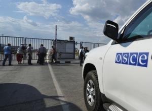 Наблюдатели ОБСЕ работают на пункте пропуска Гуково в штатном режиме