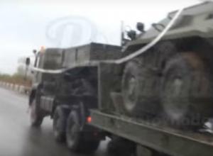 «Ликвидация»: колонну военной техники в Ростове горожане сняли на видео