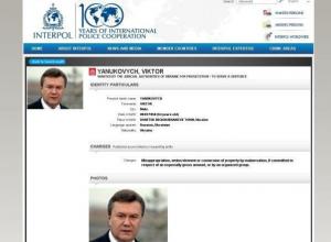 Интерпол объявил Виктора Януковича в международный розыск