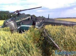 Вертолет Ми-2 упал в Ростовской области