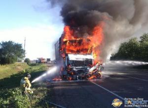 В Ростовской области водитель «Дэу» заживо сгорел в машине после столкновения с грузовиком. Фото