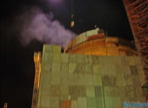 На Ростовской АЭС загорелась обшивка пластиковой изоляции