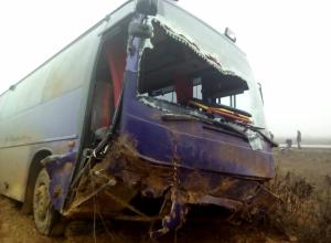 Автобус с ростовчанами разбился на трассе в Астраханской области