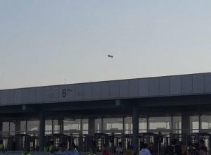 Инопланетяне на ретро-тарелке прилетели посмотреть матч на стадионе «Ростов-арена»