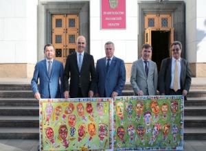 Президент Швейцарии перед матчем в Ростове посетил центр современного искусства
