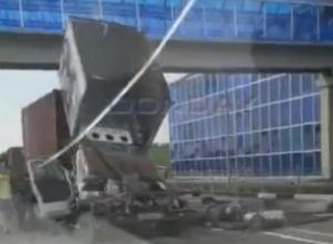 Страшные смертельные травмы получил водитель на трассе под Ростовом