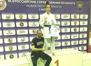 Юная каратистка из Ростова получила золотую медаль на Всероссийских соревнованиях