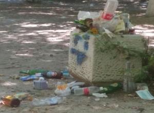Детскую площадку в Ростове очищают от мусора только перед выборами