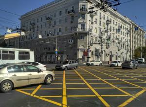 Ростовчане гадают, сколько проживет новая «вафельная» разметка в центре города