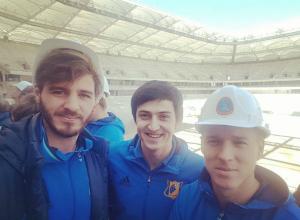 Звезды донского футбола нагрянули с эмоциональной проверкой на «Ростов-Арену»