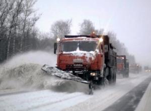 Из-за снегопада автодорога Морозовск – Цимлянск закрыта для автобусов