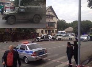 В Ростове бронеавтомобиль «Тигр» протаранил несколько машин: двое погибли. Фото