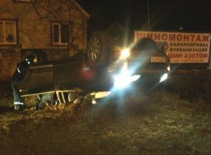 В Ростовской области перевернулся «Порше Кайен».Фото
