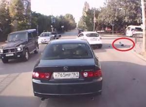 В Таганроге пьяный водитель сбил 8-летнего пешехода. Видео