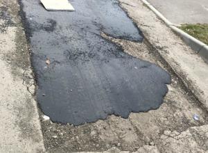 Издевательской заливкой асфальта в Ростове испортили хорошую дорогу