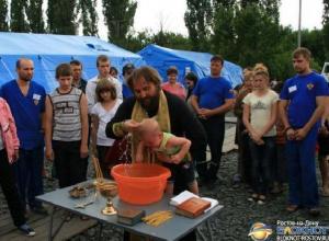 В Ростовской области спасатель стал крестным отцом ребенка украинских беженцев