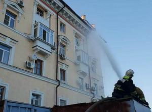 Режим чрезвычайной ситуации ввели на месте сильного пожара в Ростове