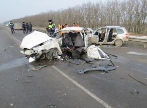 В Ростовской области в тройной аварии погибли три человека