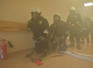 В Ростове горела поликлиника на ул. Ларина