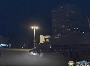 В Ростовской области военный грузовик протаранил «Ладу-Калину». Видео