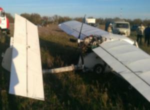 Травмы получил пилот самолета «Бекас» при жесткой посадке в Ростовской области
