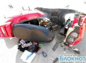 В Ростовской области в аварии погиб 15-летний подросток на скутере