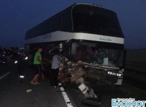 В Ростовской области автобус, следовавший в Башкирию, попал в ДТП