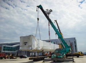 Ультрасовременные телетрапы доставили на площадку аэропорта «Платов» в Ростове
