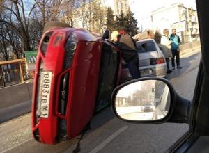 Погоня за пьяным водителем BMW в Ростове обернулась зрелищным боевиком с перевернутой машиной