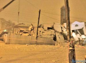 Поисково-спасательные работы на месте обрушения дома в Таганроге завершены